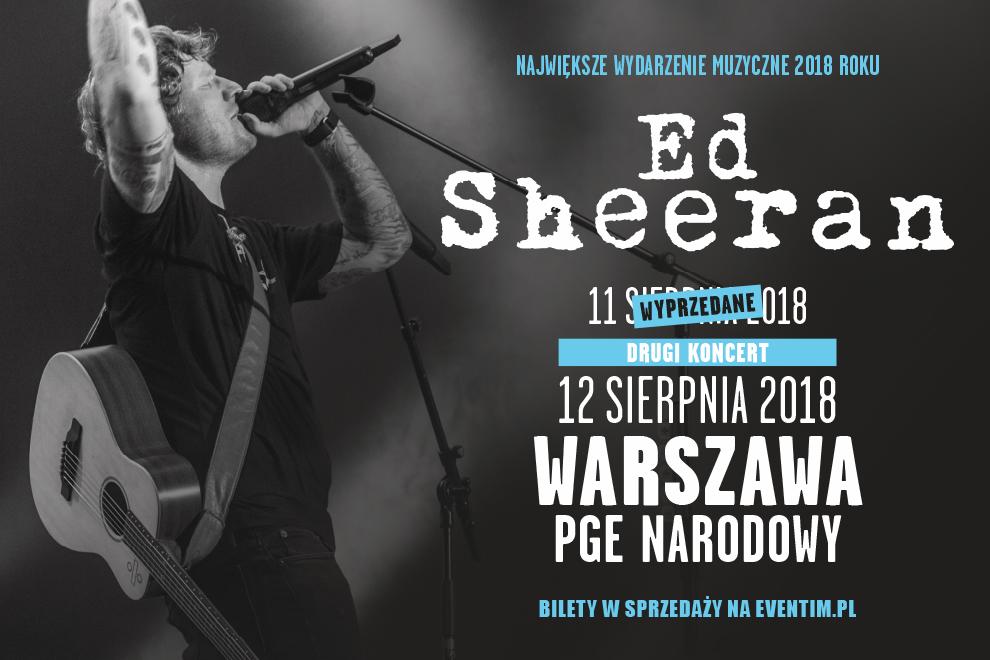 Ed Sheeran zapowiedział drugi koncert w Polsce!