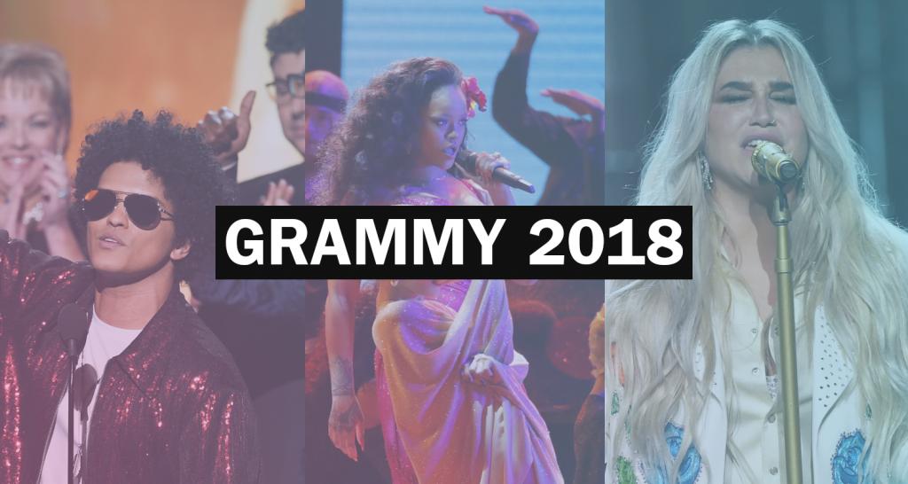 Grammy 2018 za nami: triumfował Bruno Mars i Kendrick Lamar! Bez nagrody Jay Z i SZA! Rihanna zdobyła wieczór swoim występem, a Kesha doprowadziła publikę do łez!