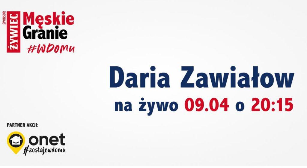 Daria Zawiałow zagra koncert z domu!